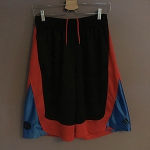 Adidas Basketball Drawstring Black Shorts Medium